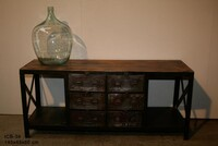 Industrial work sideboard with 6 drawer ICB-36 - Click photo for more details