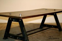 Iron wooden table ITB-11 - Click photo for more details